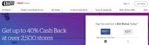 Ebates make money cashback