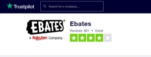 Ebates trustpilot ratings