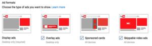 Screenshot Google adsense ad format