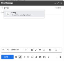 compose email add group
