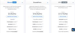 Dreamhost plans