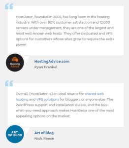 Hostgator hosting customer reviews