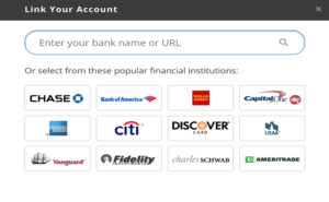 link bank account screenshots