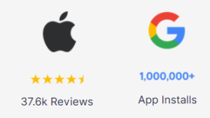 Apple store review and google downloads