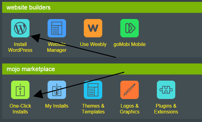 Installation of WordPress on Hostmonster