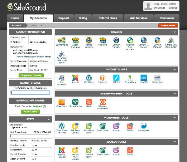 Cpanel bluehost