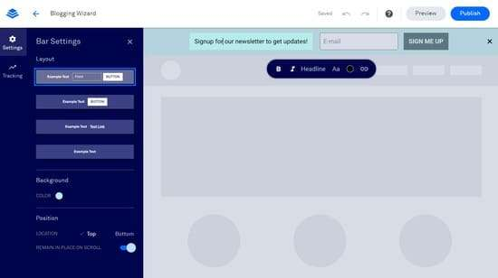 How you can create Alert Bars with LeadPages