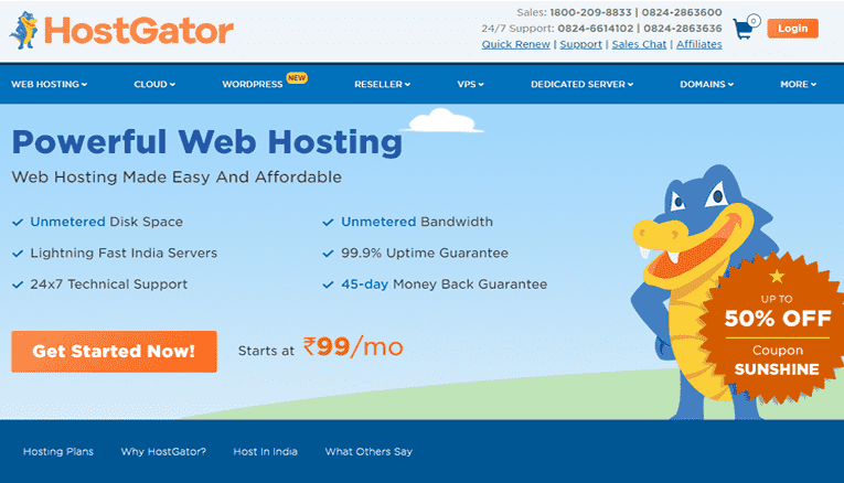 Hostgator India vs Hostgator.com