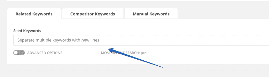 Finding of Long Tail Keywords